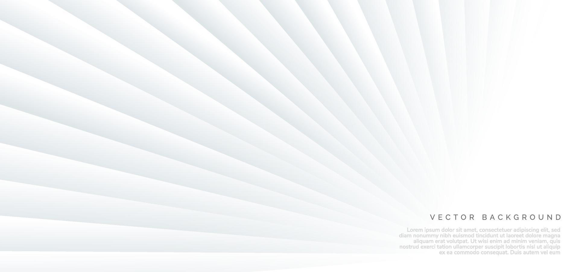 astratto banner diagonale sfondo bianco prospettiva. vettore