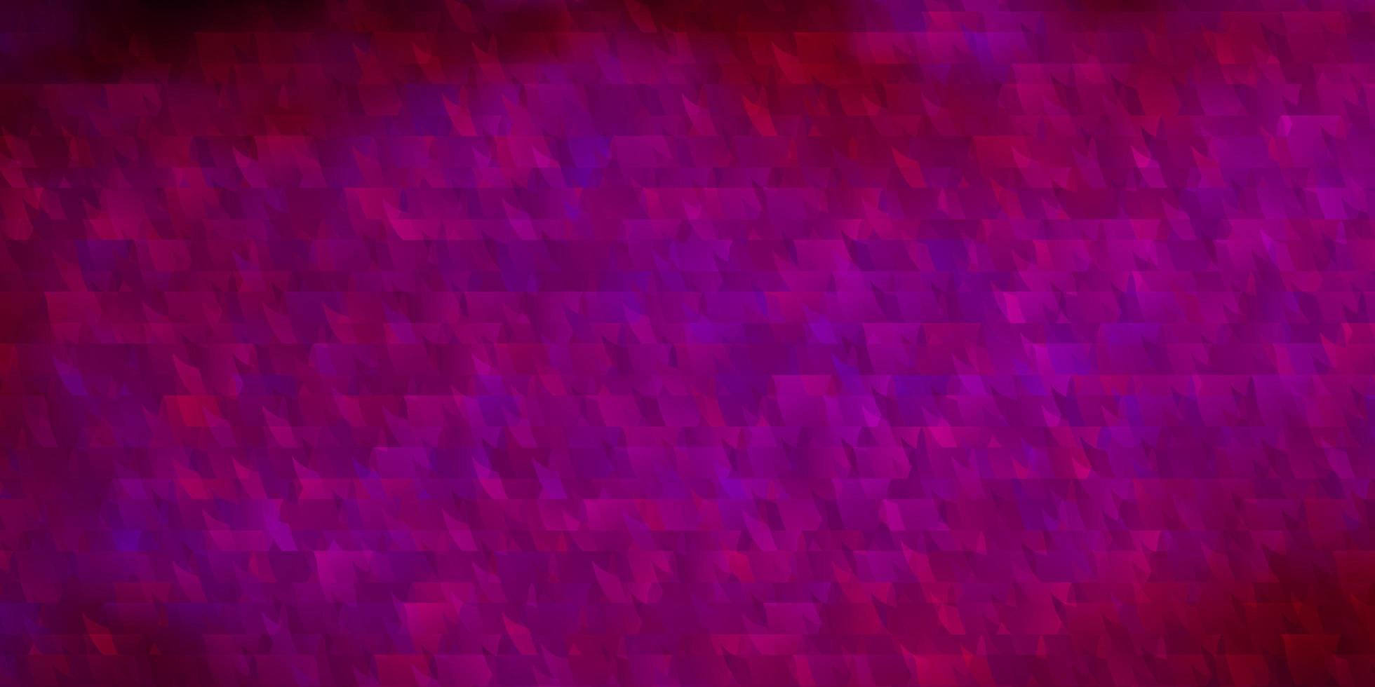trama vettoriale rosa scuro con linee, triangoli.