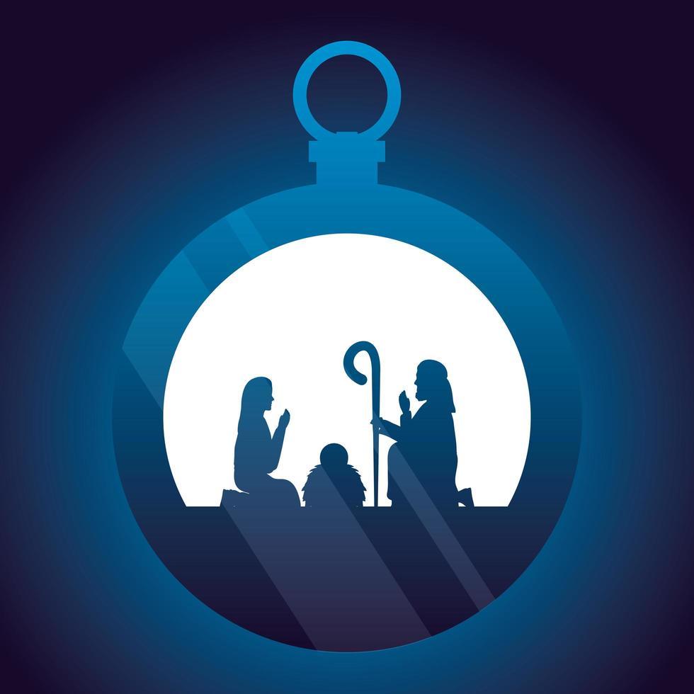 epifania di gesù, ornamento sacro della famiglia vettore