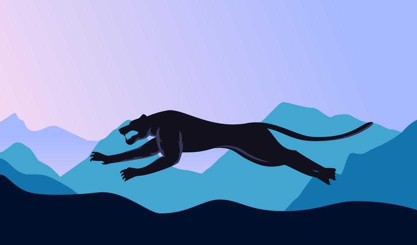 Vettori unici della pantera nera