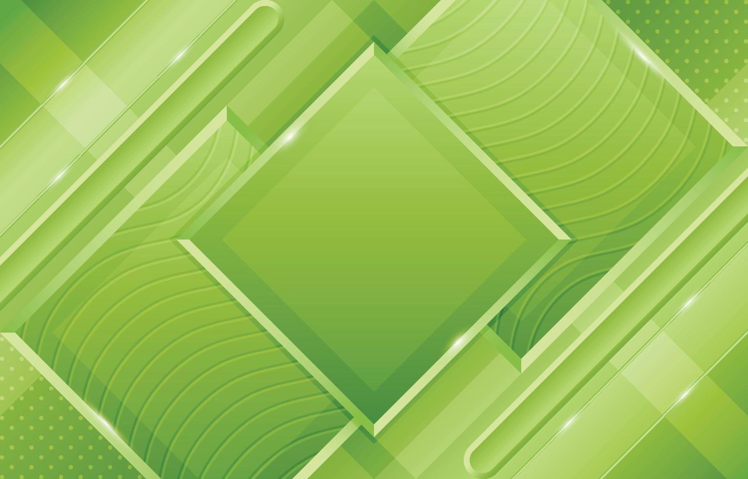 verde geometrico con motivo a onde e composizione di forme diagonali vettore