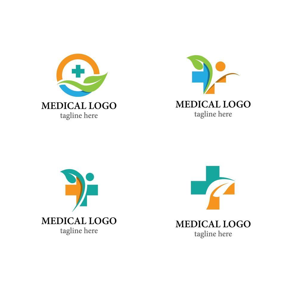 set di icone logo salute vettore