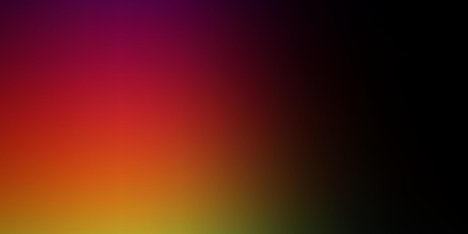 sfondo sfocato astratto vettoriale multicolore scuro.