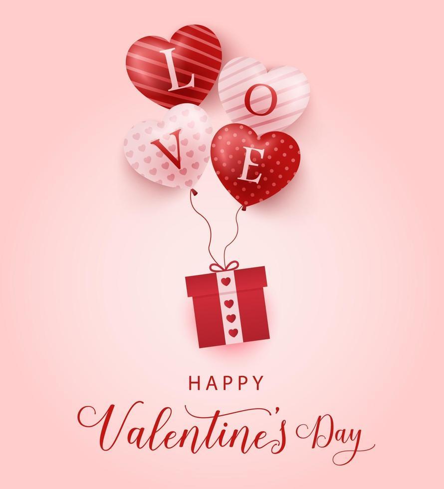 felice giorno di San Valentino banner vettore