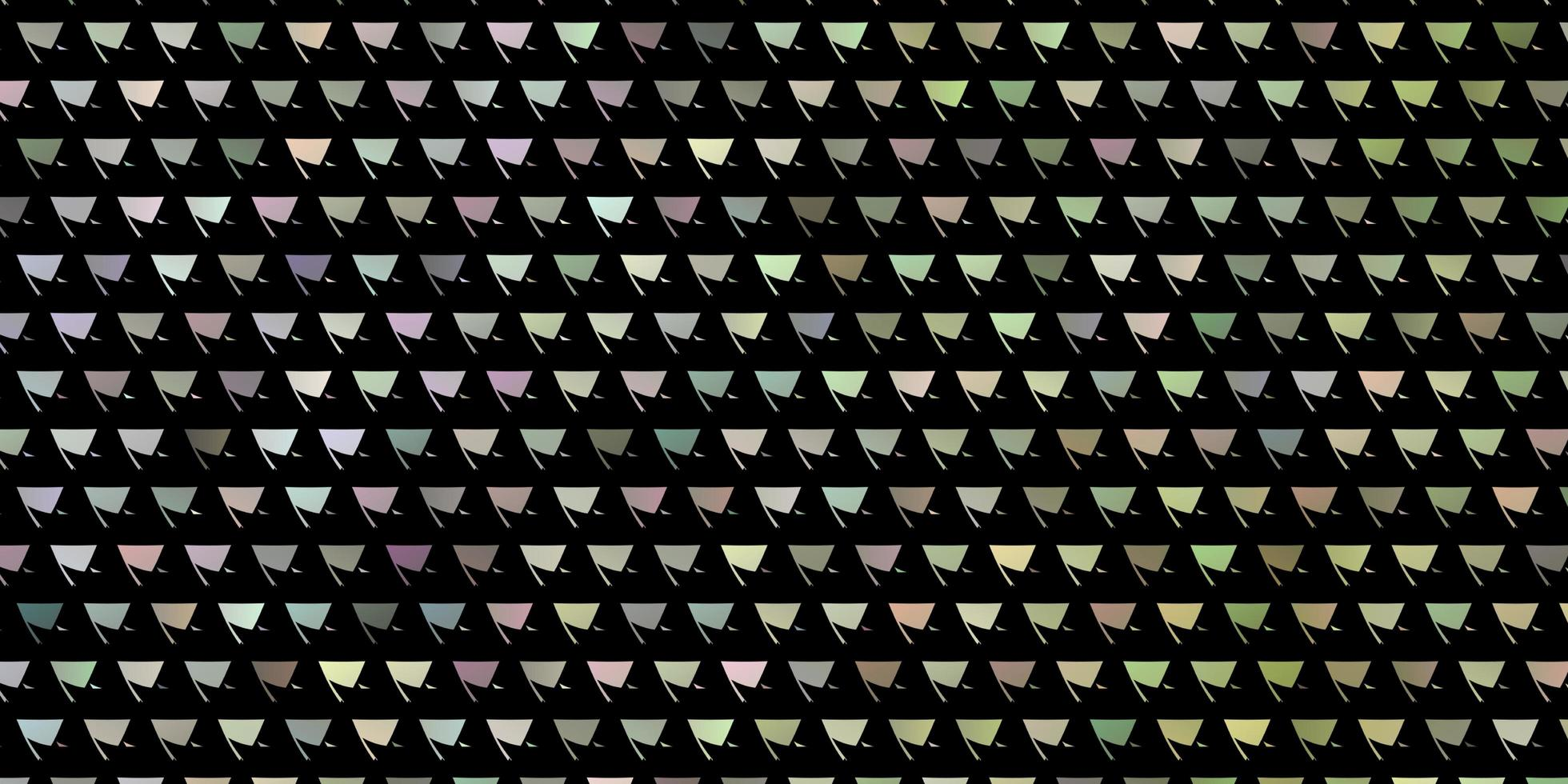 layout multicolore chiaro con linee, triangoli vettore
