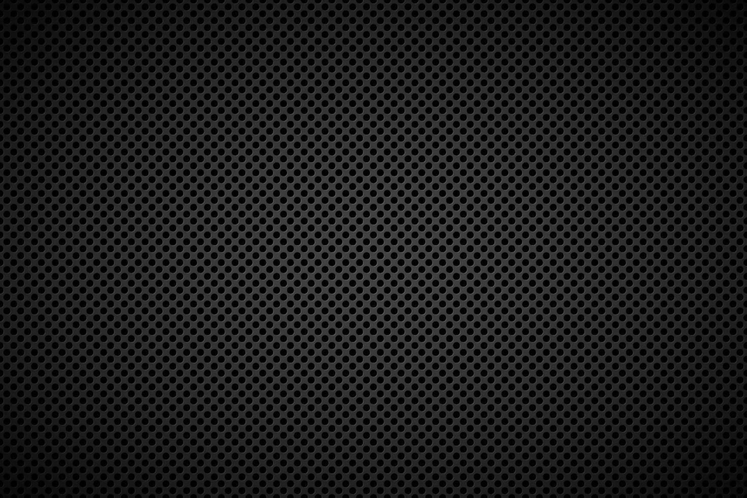 fondo metallico nero perforato. illustrazione vettoriale di sfondo astratto in acciaio inox