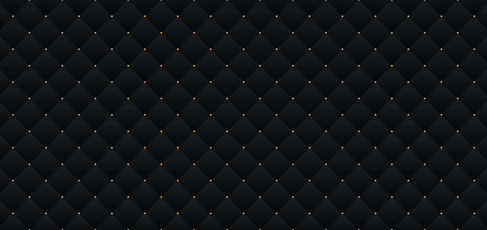 motivo elegante nero scuro in stile retrò con piccoli punti dorati. sfondo per carta di invito. puoi usarlo per una festa reale premium. modello di poster di lusso bg con texture in pelle vintage vettore