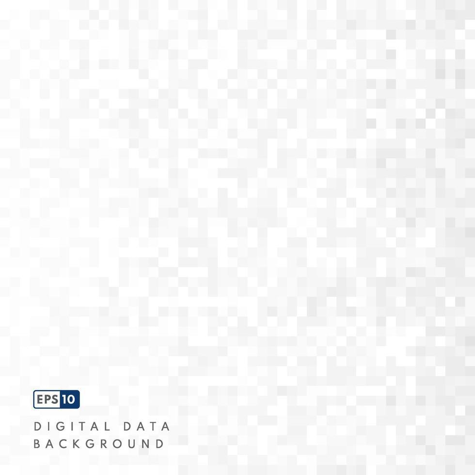 modello astratto sfondo quadrato grigio bianco con spazio di copia. concetto di dati digitali. vettore per il design della presentazione. vestito per affari, azienda, istituzione, festa, festa e colloqui. vettore eps10