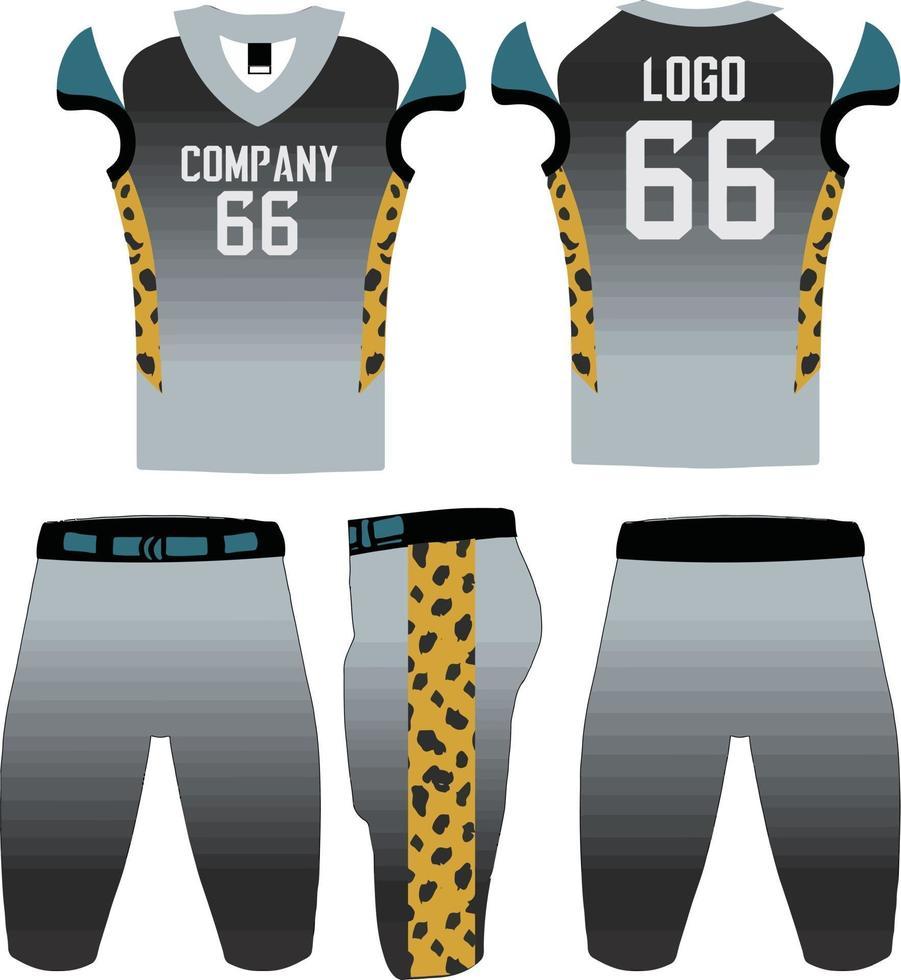 modello di illustrazione delle divise da football americano di design personalizzato vettore