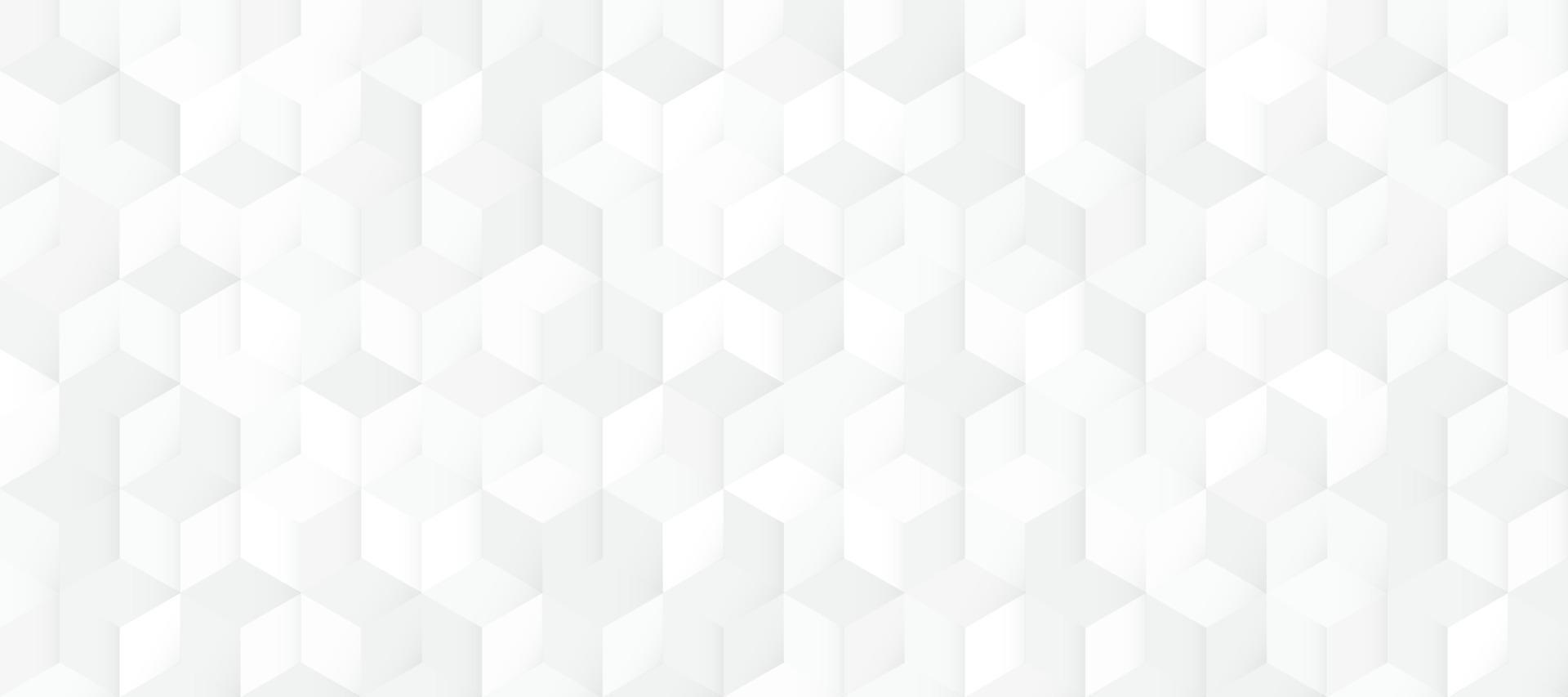 Fondo bianco e grigio senza cuciture astratto del modello 3d del quadrato. design moderno texture geometrica. illustrazione vettoriale