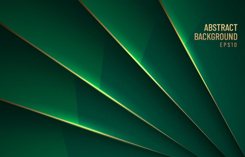 elegante sfondo verde scuro metallizzato lucido strato sovrapposto con ombra con stile lusso linea oro. è possibile utilizzare per la progettazione di brochure modello. poster, banner web, flyer, ecc. illustrazione vettoriale