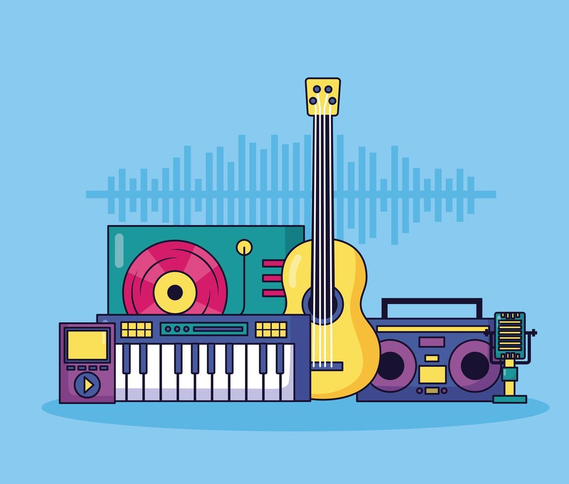 musica di sottofondo colorato vettore
