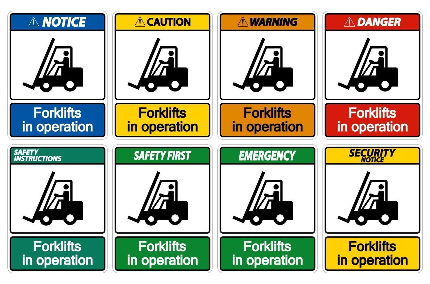 carrelli elevatori in segno di simbolo di funzionamento isolare su sfondo trasparente vettore