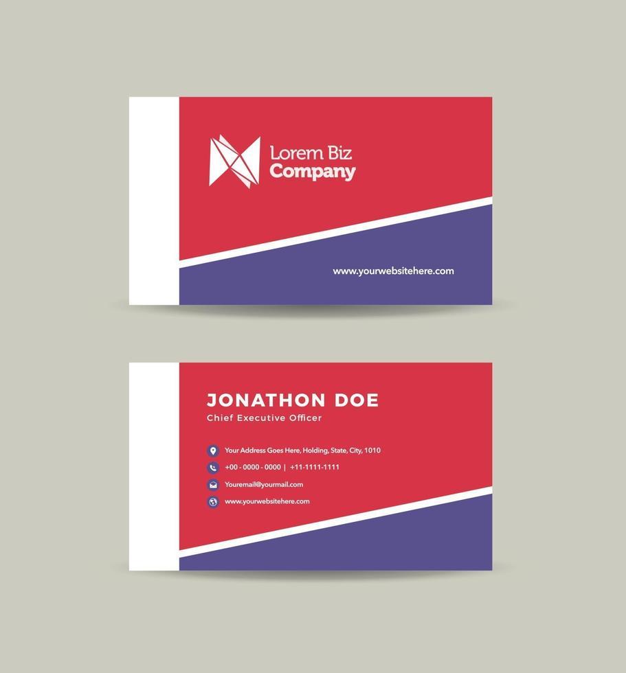 progettazione di biglietti da visita aziendali o biglietto da visita e biglietto da visita personale vettore