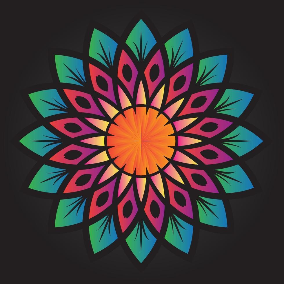 disegno vettoriale di ornamento floreale astratto modello