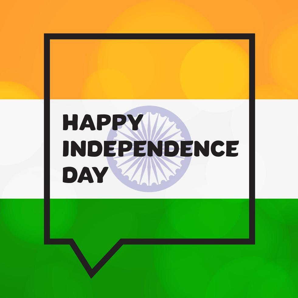 felice giorno dell'indipendenza vettore