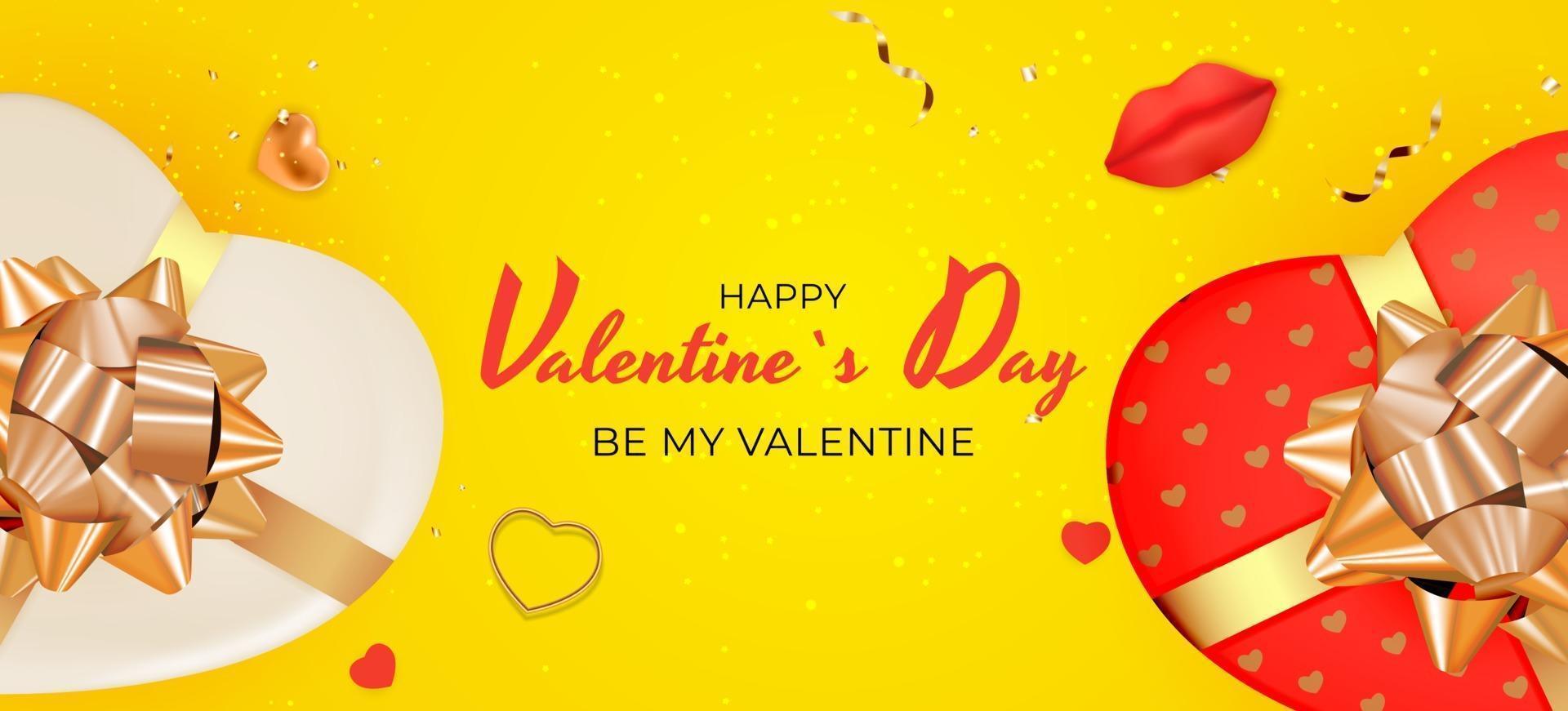 colore di sfondo giallo di San Valentino vettore