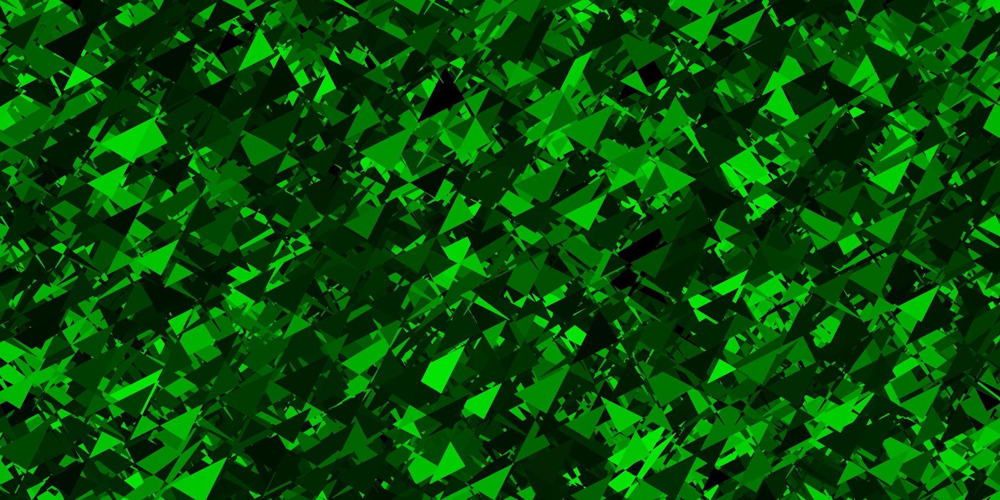 modello vettoriale verde scuro con forme poligonali.