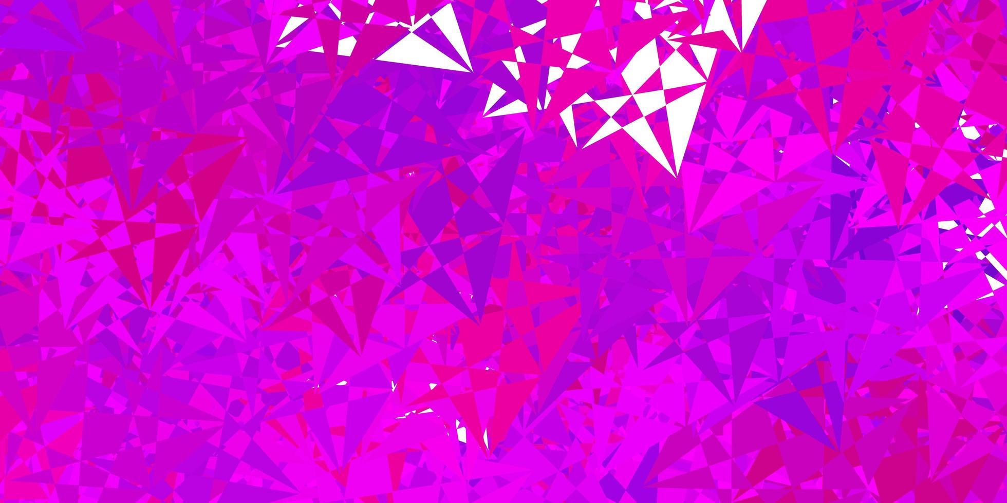 sfondo vettoriale rosa chiaro con forme poligonali.