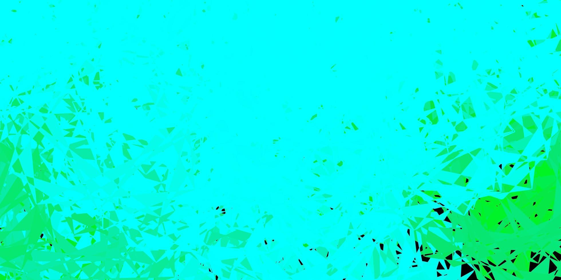 sfondo vettoriale verde chiaro con triangoli, linee.