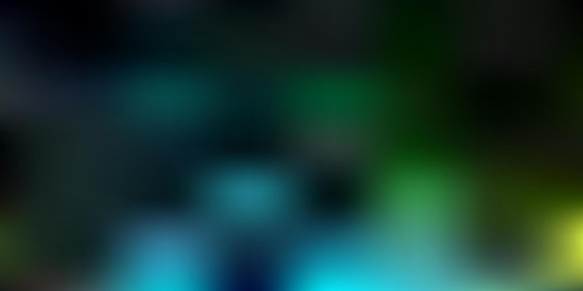 modello sfocato di vettore blu scuro, verde.
