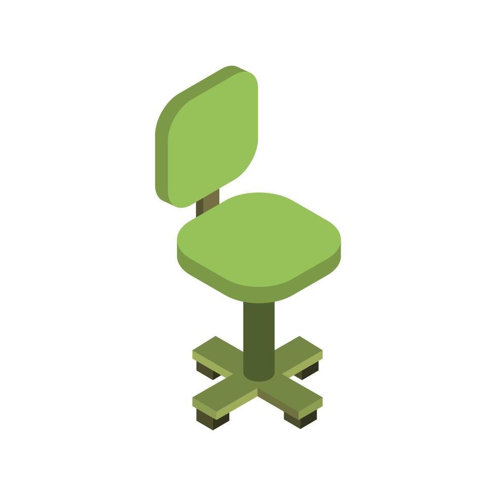 sedia da ufficio isometrica su sfondo bianco vettore