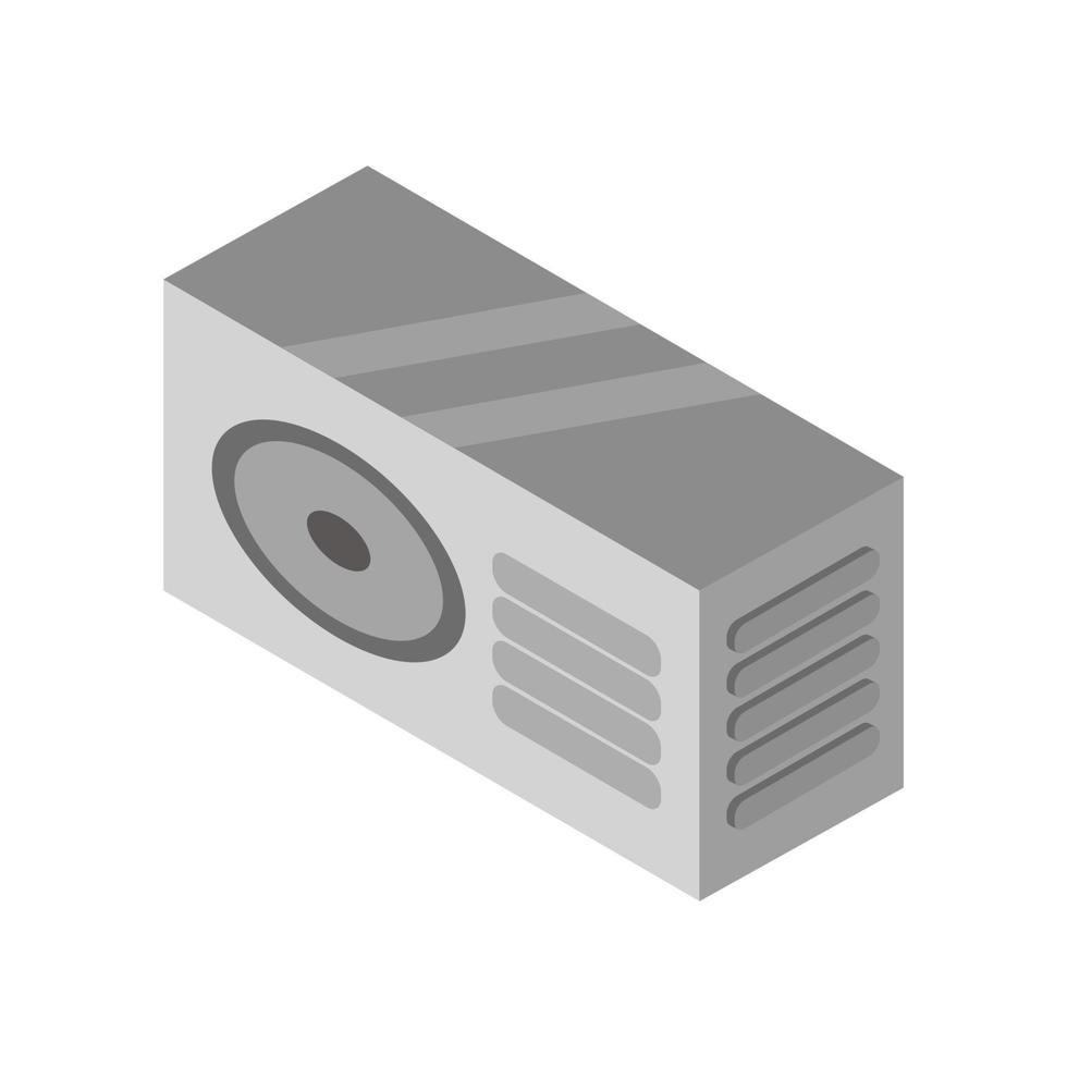 condizionatore isometrico illustrato su sfondo bianco vettore