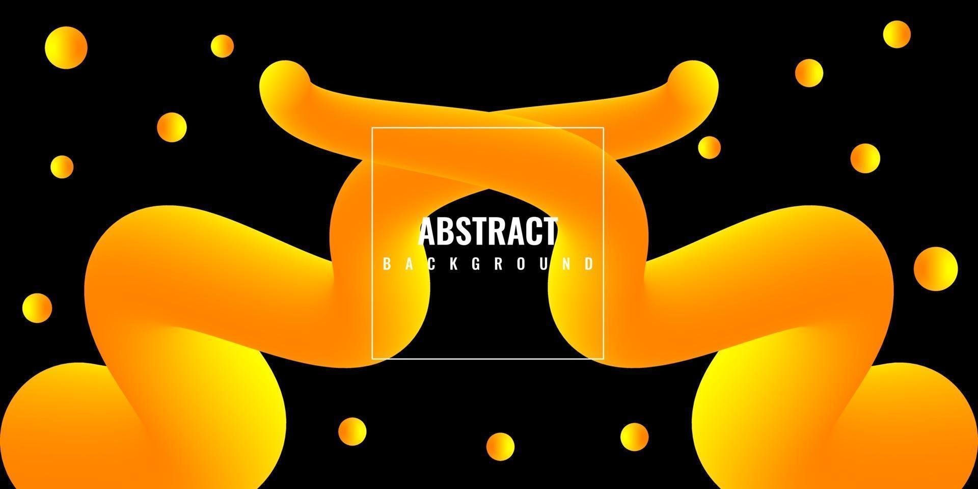 moderno liquido astratto 3d sfondo con sfumatura gialla vettore
