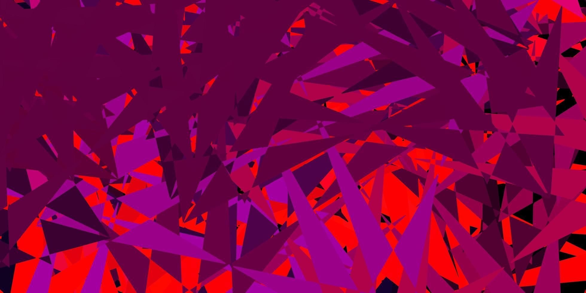 modello vettoriale rosa scuro, rosso con forme triangolari.