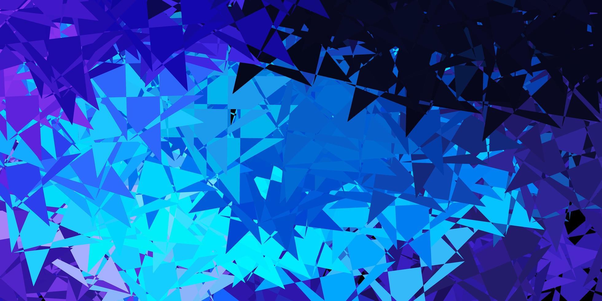 modello vettoriale rosa chiaro, blu con forme triangolari.