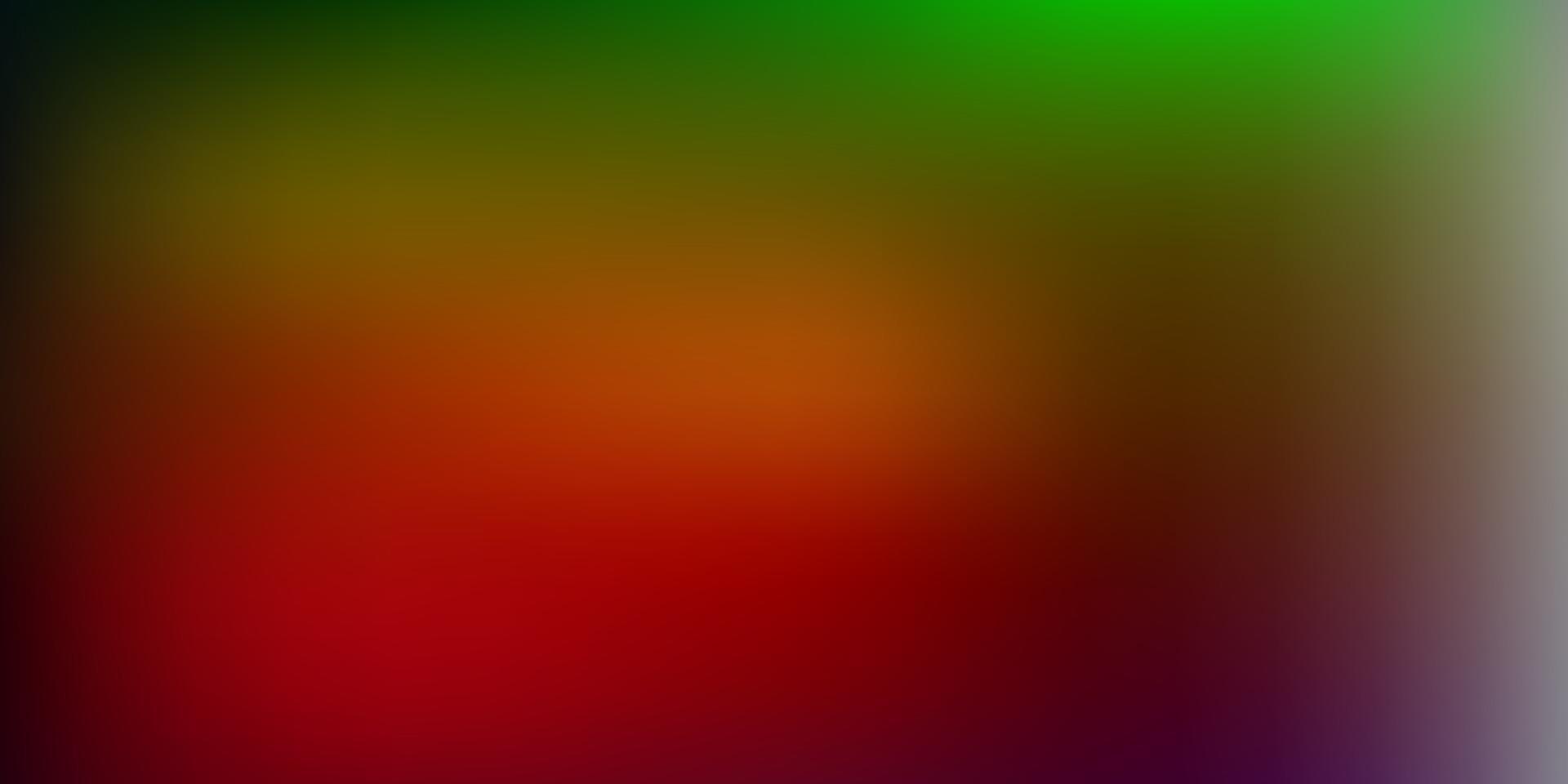 modello di sfocatura gradiente vettoriale verde scuro, rosso.