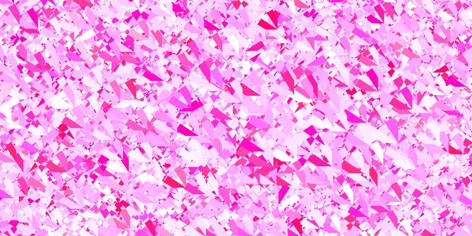 sfondo vettoriale rosa scuro con triangoli, linee.