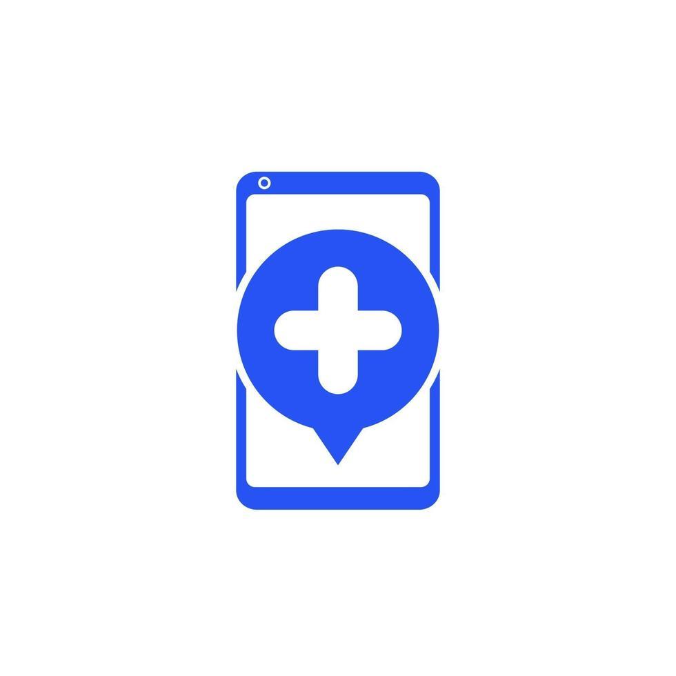 telemedicina, icona di consultazione medica in linea con il telefono vettore