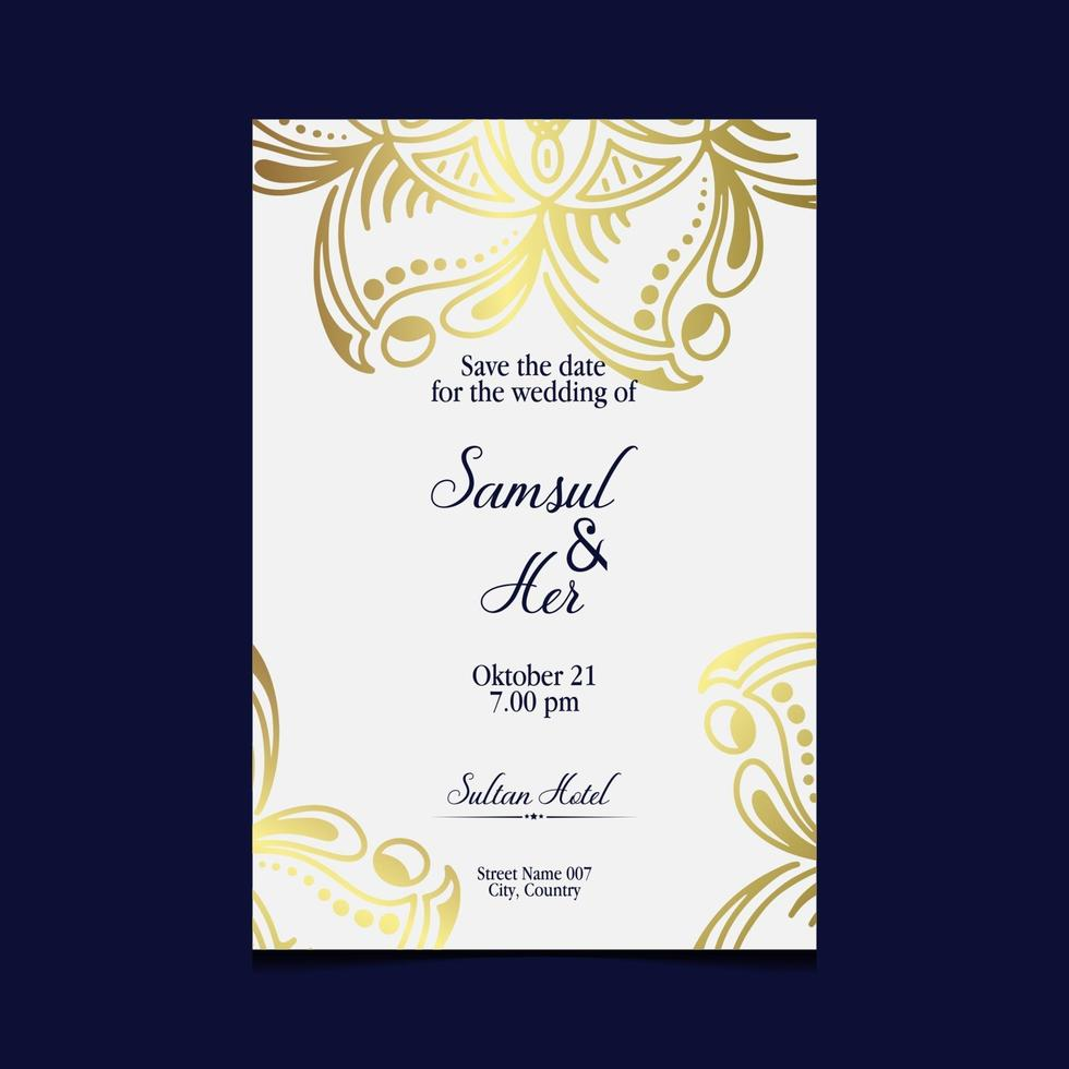 floreale e mandala ornamentale cornice decorativa sfondo lusso vettore Premium
