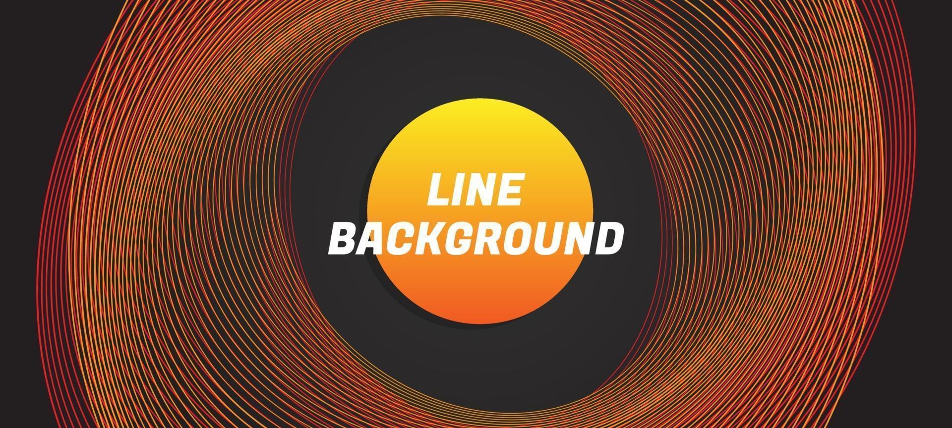 stile della linea su sfondo nero illustrazione vettoriale premium