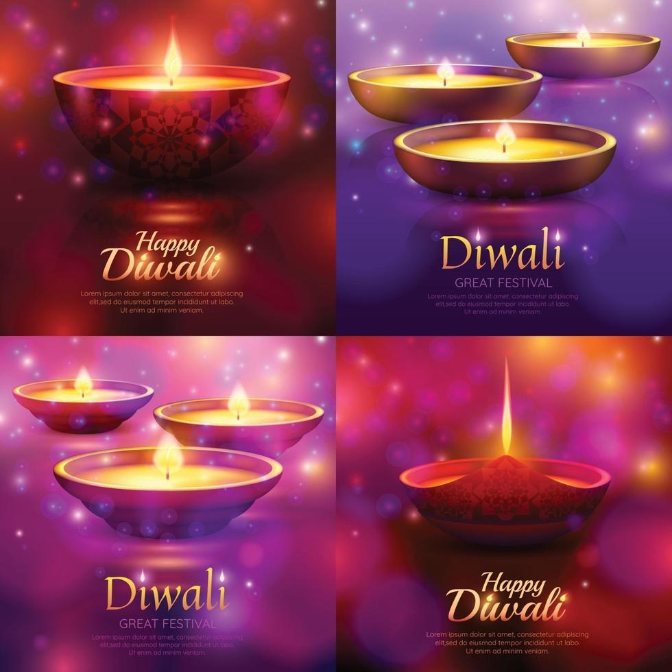 concetto di celebrazione di diwali vettore