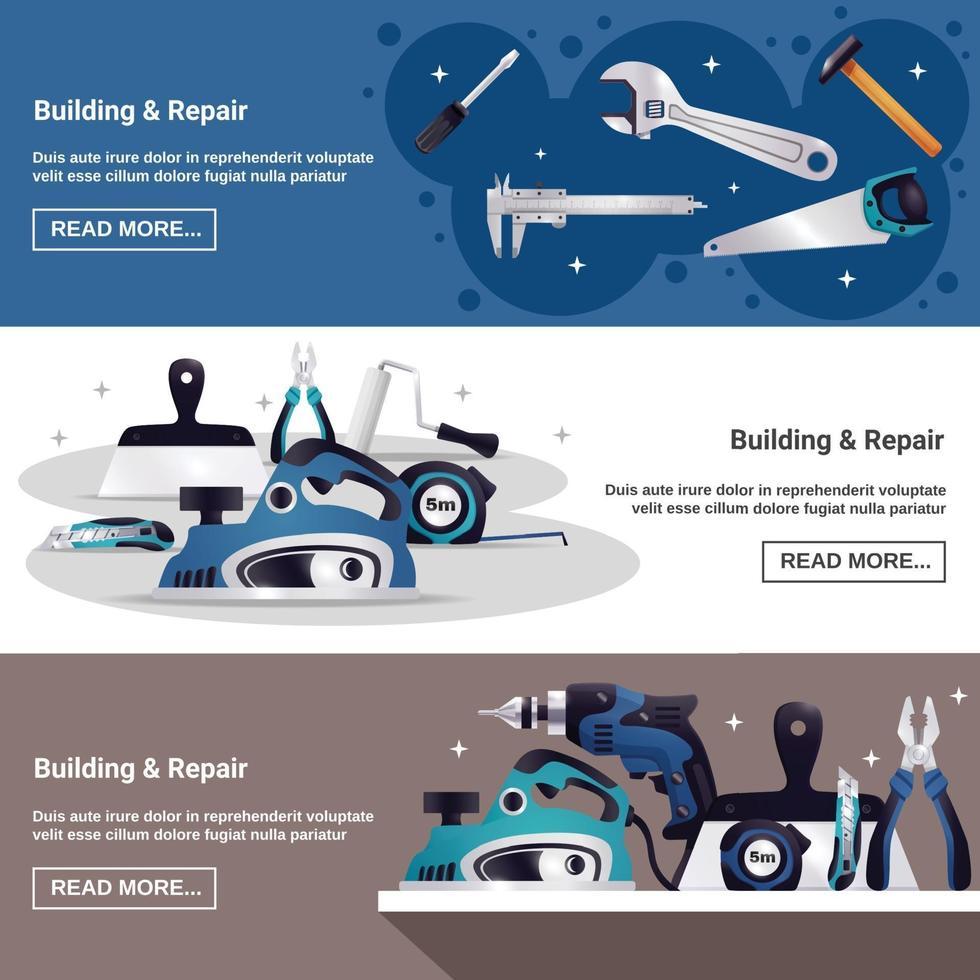 banner orizzontale strumento builder vettore