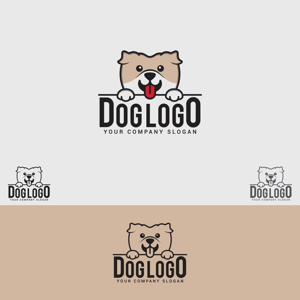 modello di progettazione di logo di cane vettore