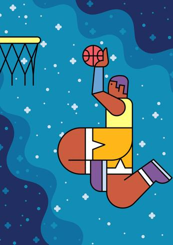Slam Dunk Basket vettore