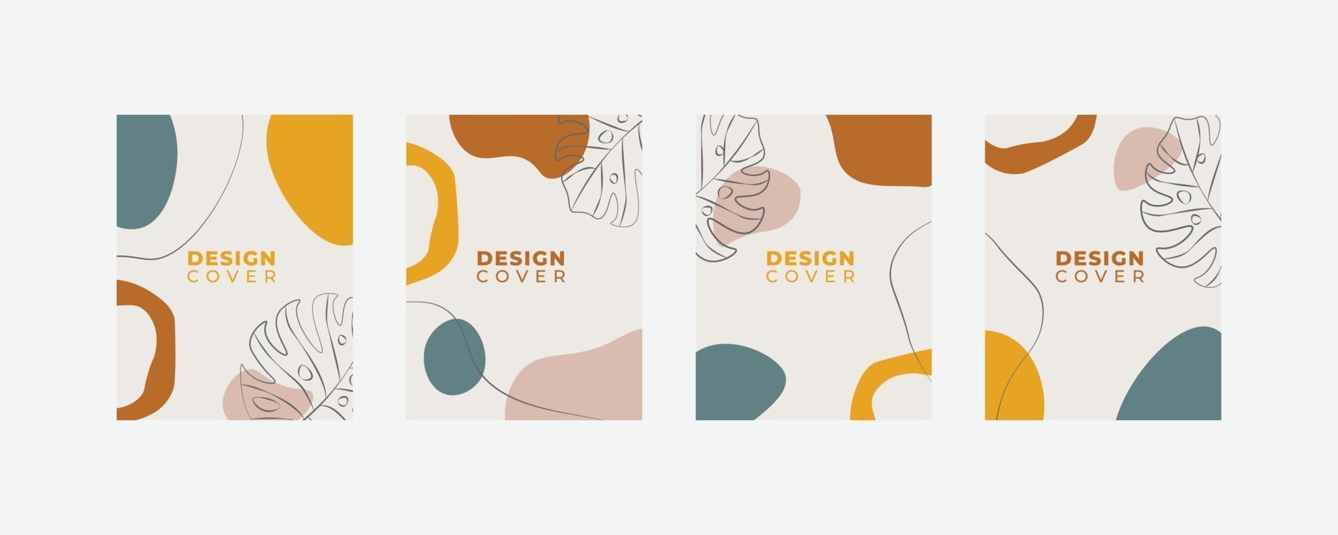 set di modelli di design copertina universale creativa astratta. vettore