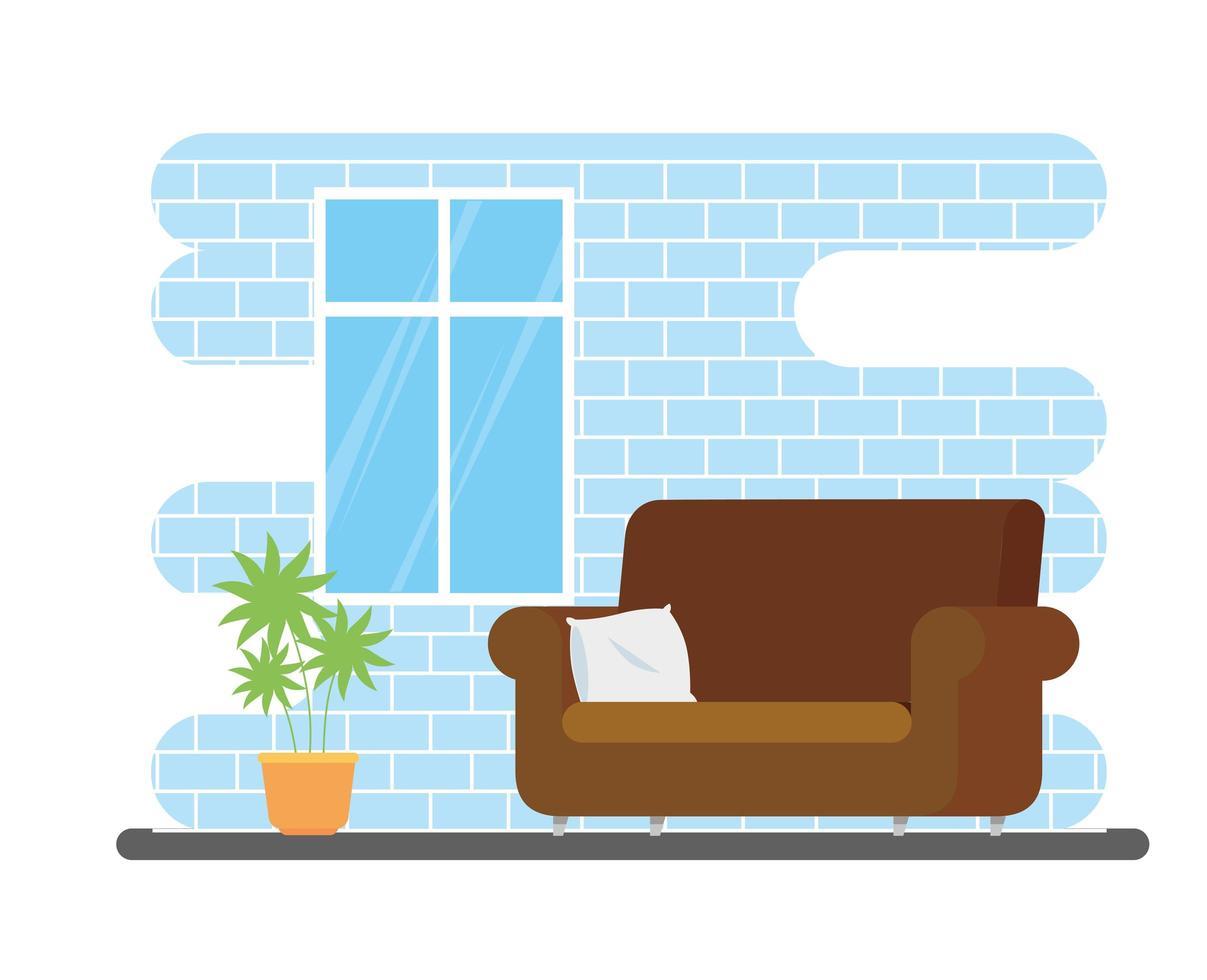 soggiorno casa posto con divano vettore