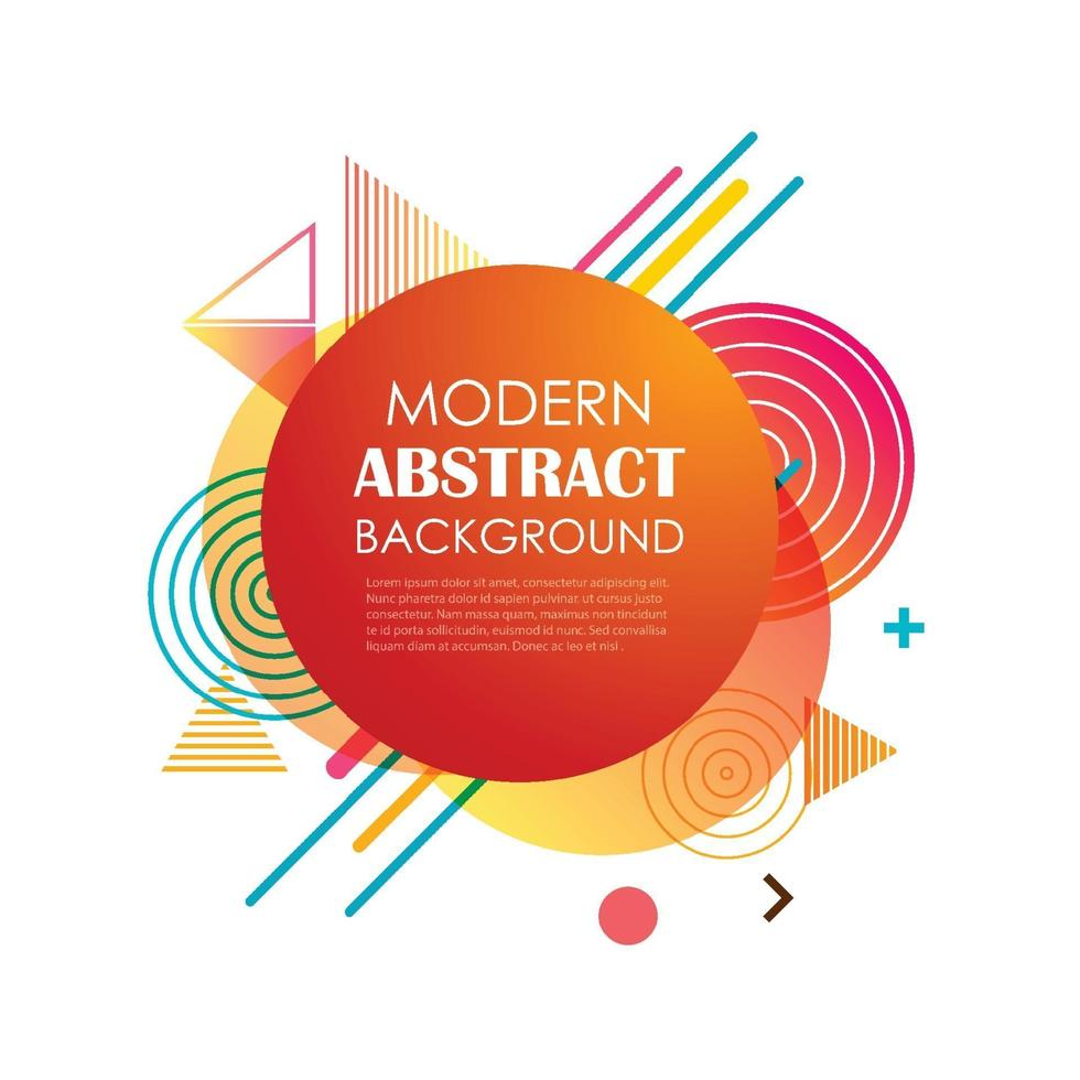 disegno e priorità bassa del reticolo geometrico del cerchio rosso astratto. utilizzare per il design moderno, copertina, modello, decorato, brochure, flyer. vettore