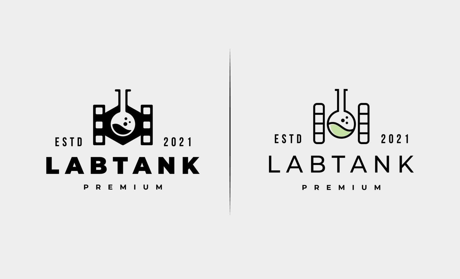 illustrazione di progettazione di vettore di logo del serbatoio del laboratorio