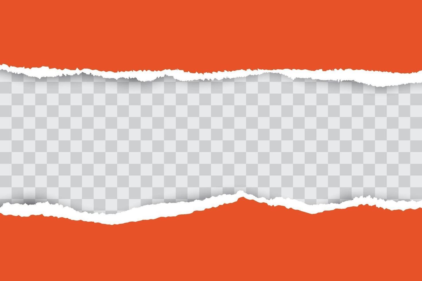 sfondo arancione carta strappata con posto per il testo. vettore