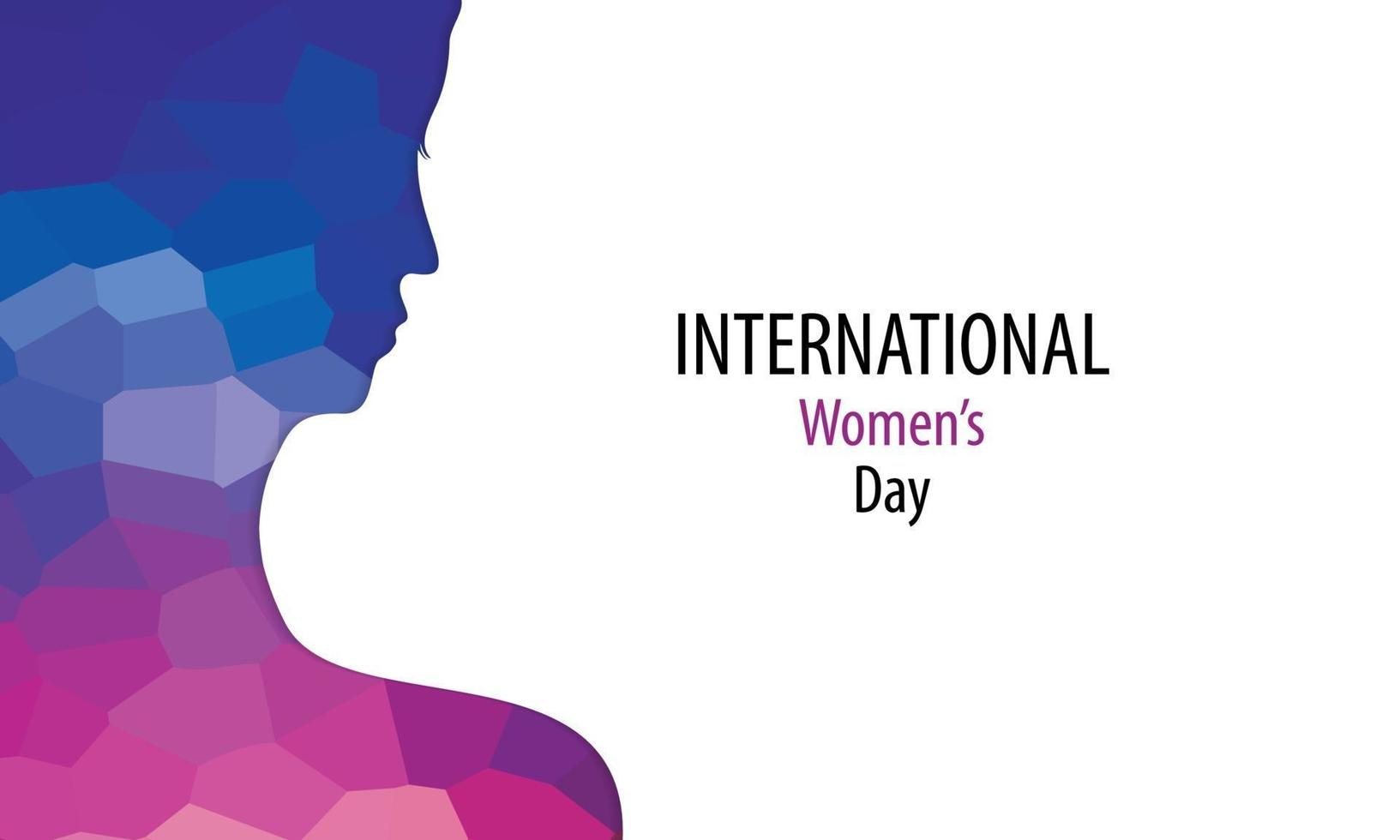 poster della giornata internazionale della donna con silhouette di donna vettore