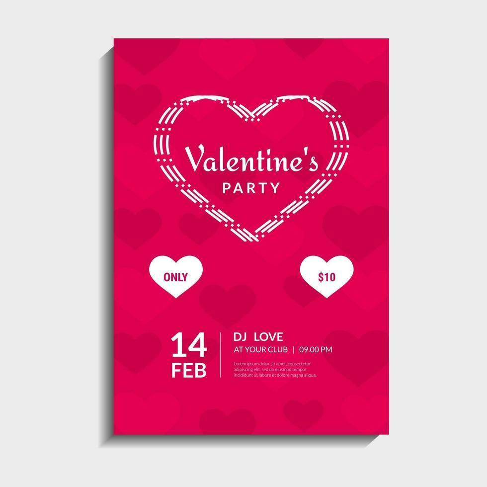 carta di festa di San Valentino vettore
