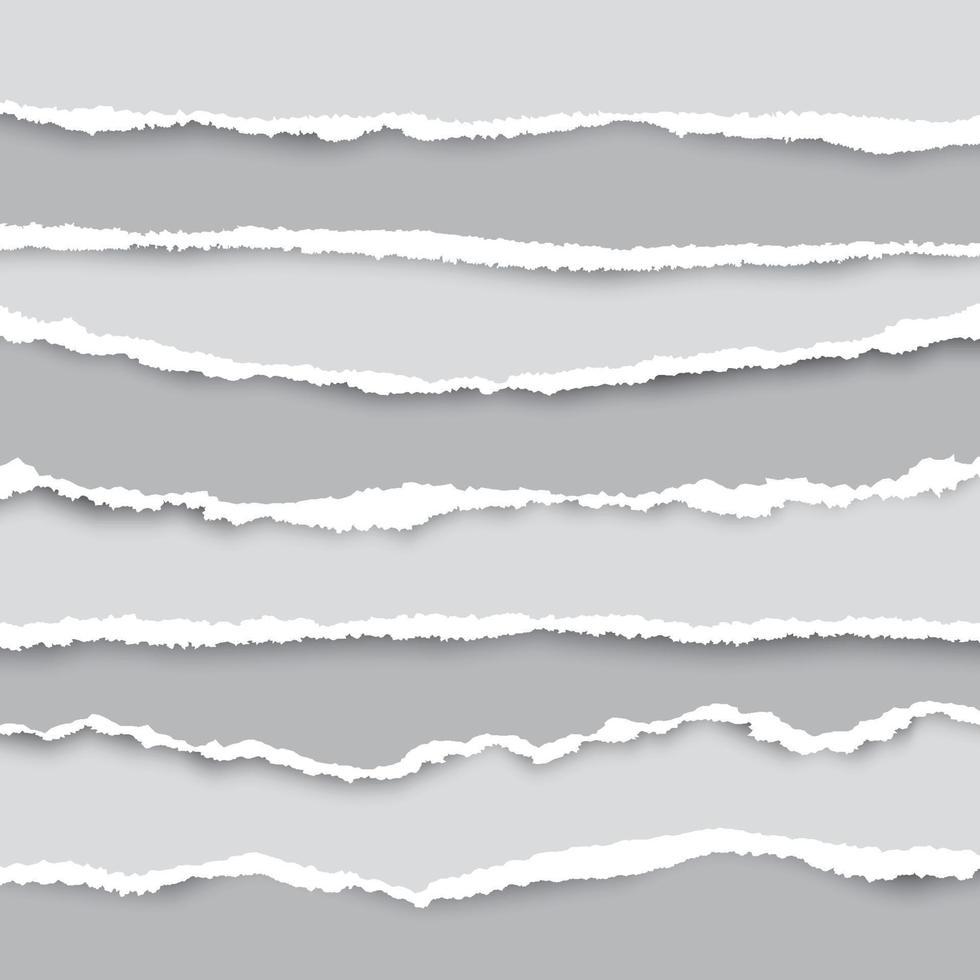 un insieme di pezzi di carta strappati in molte dimensioni. utilizzato come sfondo e l'aggiunta di testo per tutto il design. vettore