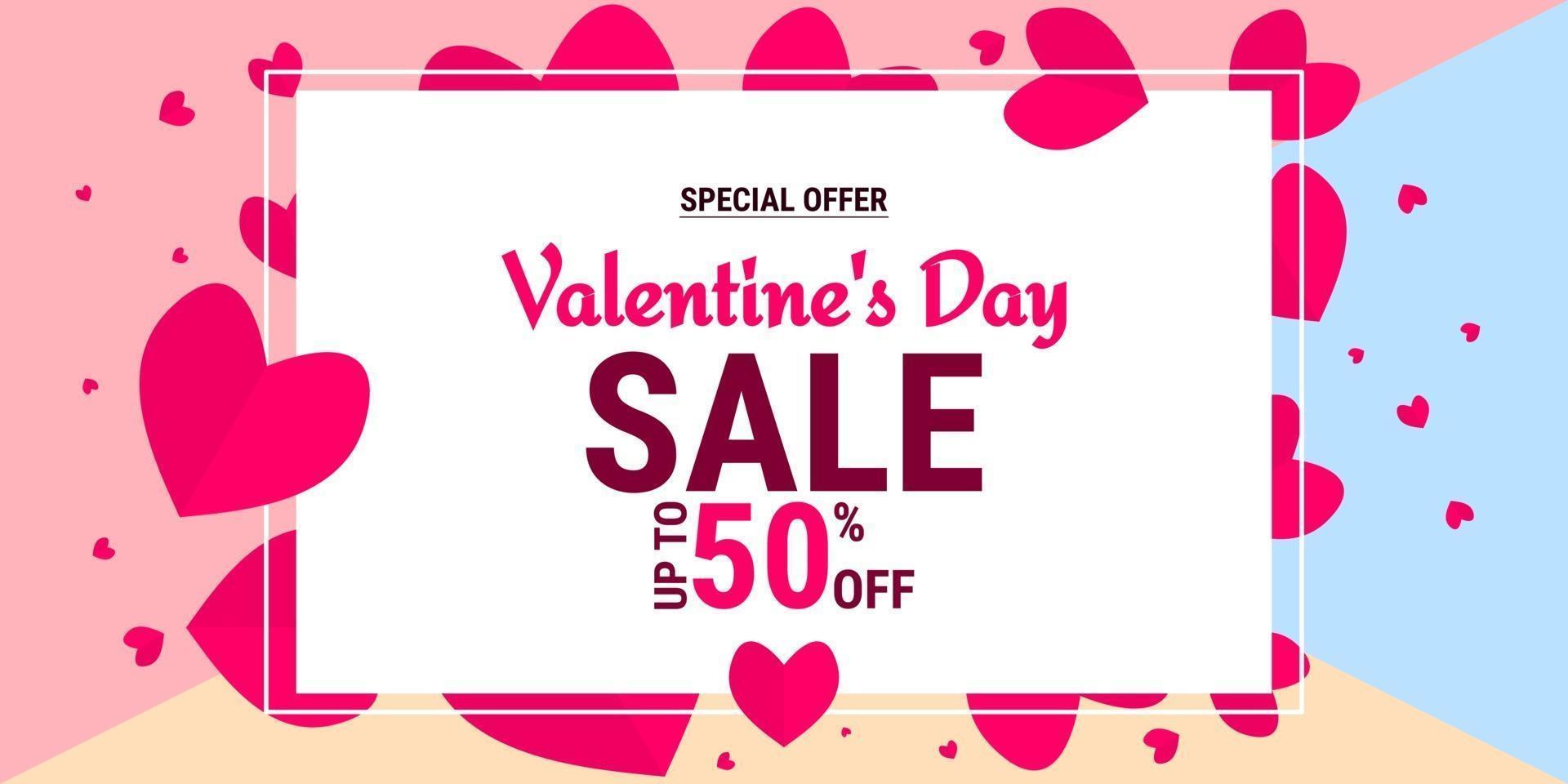 vendita offerta speciale di san valentino vettore
