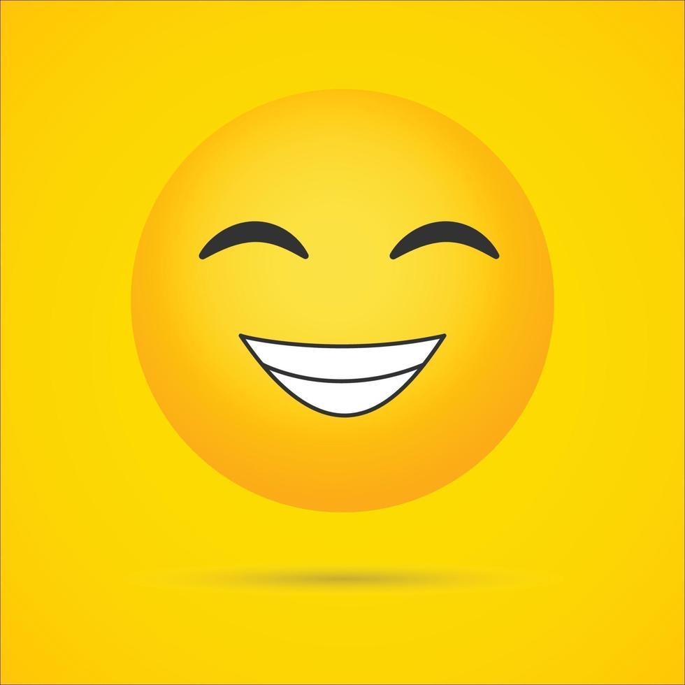 faccina raggiante con occhi sorridenti emoji vettoriale