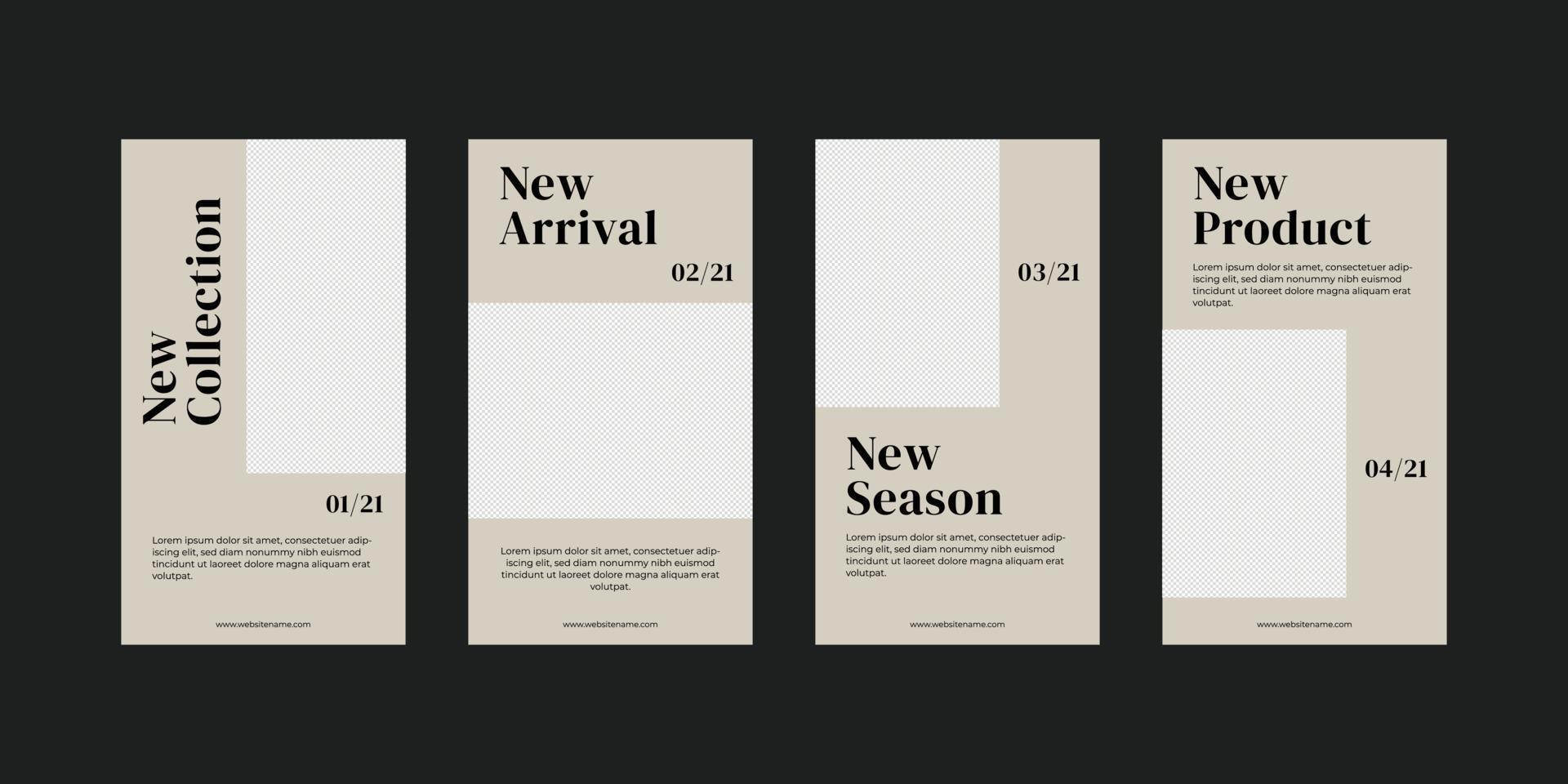modello di storie di social media minimalista. vettore